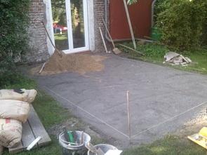 Terrassengestaltung Vorarbeiten